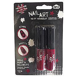 Mini Nail Art Set 2 Burgundy/Glitter