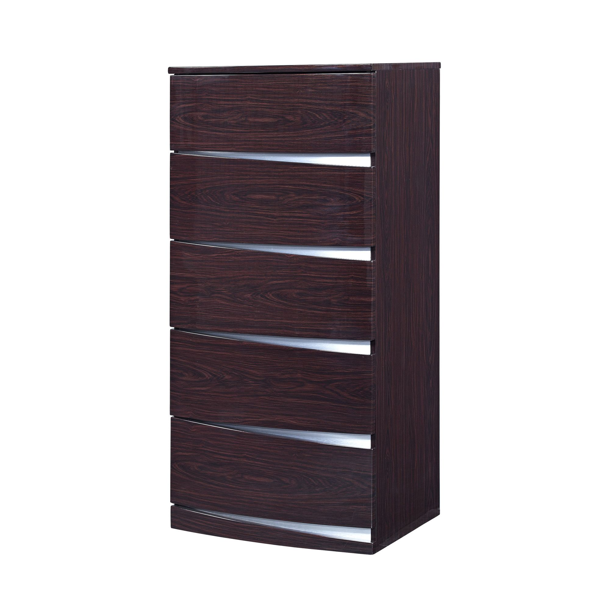 Furniture Link Plaza 5 Drawer Chest - Walnut at Tesco Direct