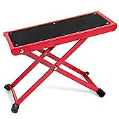 Tiger Adjustable Folding Guitar Footstool - Red