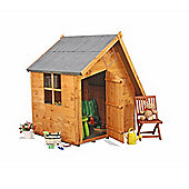 Mad Dash Crooked Cottage Wooden Playhouse, 4ft x 4ft