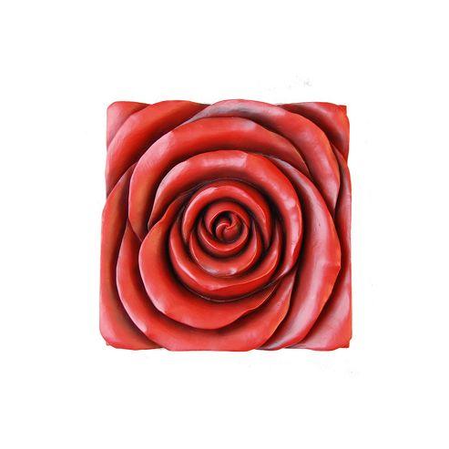 Novus Imports Rose in Bloom Metal Wall Art