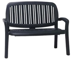 Nardi Lipari Bench in Anthracite