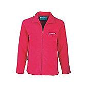 Raso Kids Micro Fleece Microfleece Full Zip Breathable Sweater Jacket - Pink