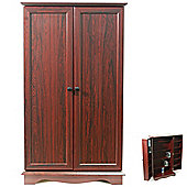 Techstyle CD / DVD / Video Media Storage Cupboard - Mahogany