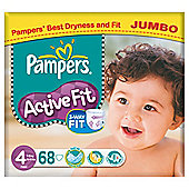 Pampers Active Fit Jumbo Maxi 68