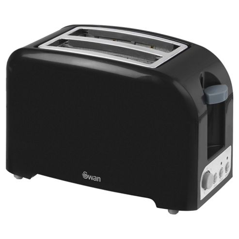 Swan 2 Slice Toaster - Black