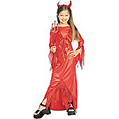 Fancy Dress - Childrens Devilish Diva - Large (each)