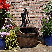 Ubbink Newcastle Wooden Barrel Water Feature