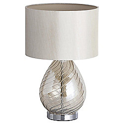 Vienna Swirl Glass Table Lamp, Champagne