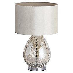 Vienna Swirl Glass Table Lamp, Champagne