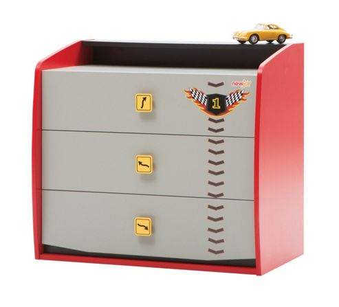 NewJoy Vento V8 Red Children s Chest of Drawers