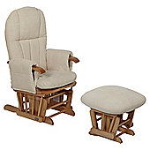 Tutti Bambini Daisy Multi Position Glider Chair & Stool - Natural