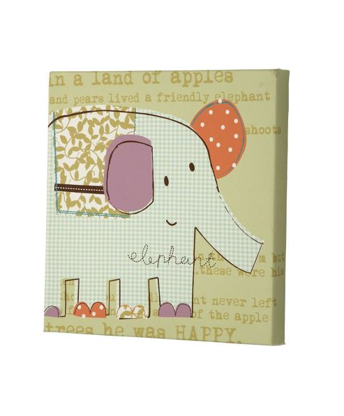 Mamas & Papas - Made with Love - Canvas Picture, Elephant