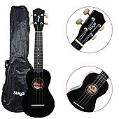 Stagg US10 Ukulele with Free Bag - Black