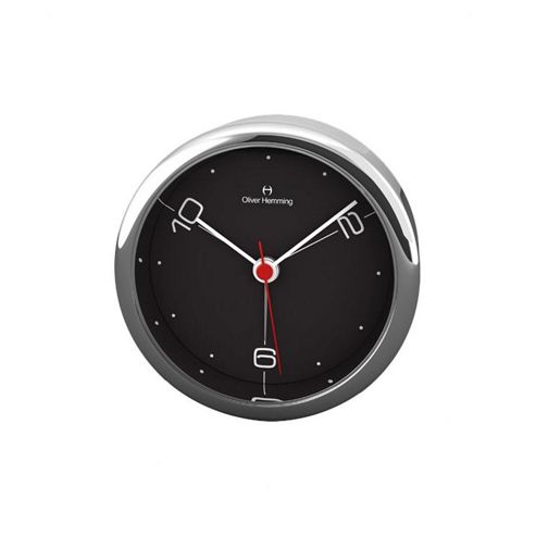 Oliver Hemming Alloy Desire Alarm Clock - Black - 5.8cm