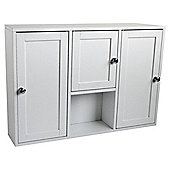 3 Door Bathroom Cabinet, White