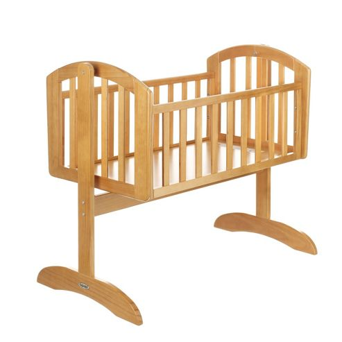 Obaby Sophie Swinging Crib & Mattress - Country Pine