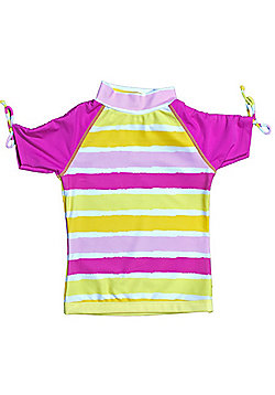 Banz 'Sun Blossom' Short Sleeve UV Rash Top - Pink - Pink