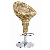 Enduro Hessian Adjustable Bar Stool with Step