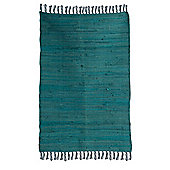 Ian Snow Turquoise Traditional Rug - 60 cm x 90 cm (1 ft 11 in x 2 ft 11 in)