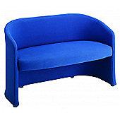 Office Basics Slender 2 Seater Sofa - Blue
