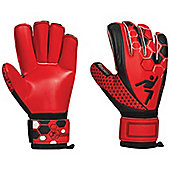 Precision Junior Matrix Lumina Rollfinger Finger Protection GK Gloves - Red