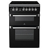 Indesit ID60C2KS, Freestanding, Electric Cooker, 60cm, Black, Twin Cavity, Double Oven