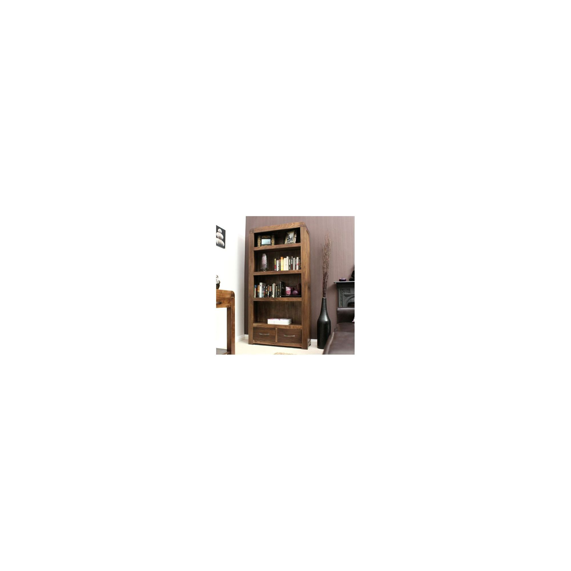 Baumhaus Shiro Large 2 Drawer Bookcase in Walnut at Tesco Direct