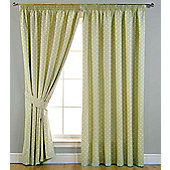 Dotty Ready Made Blackout Curtains - Green