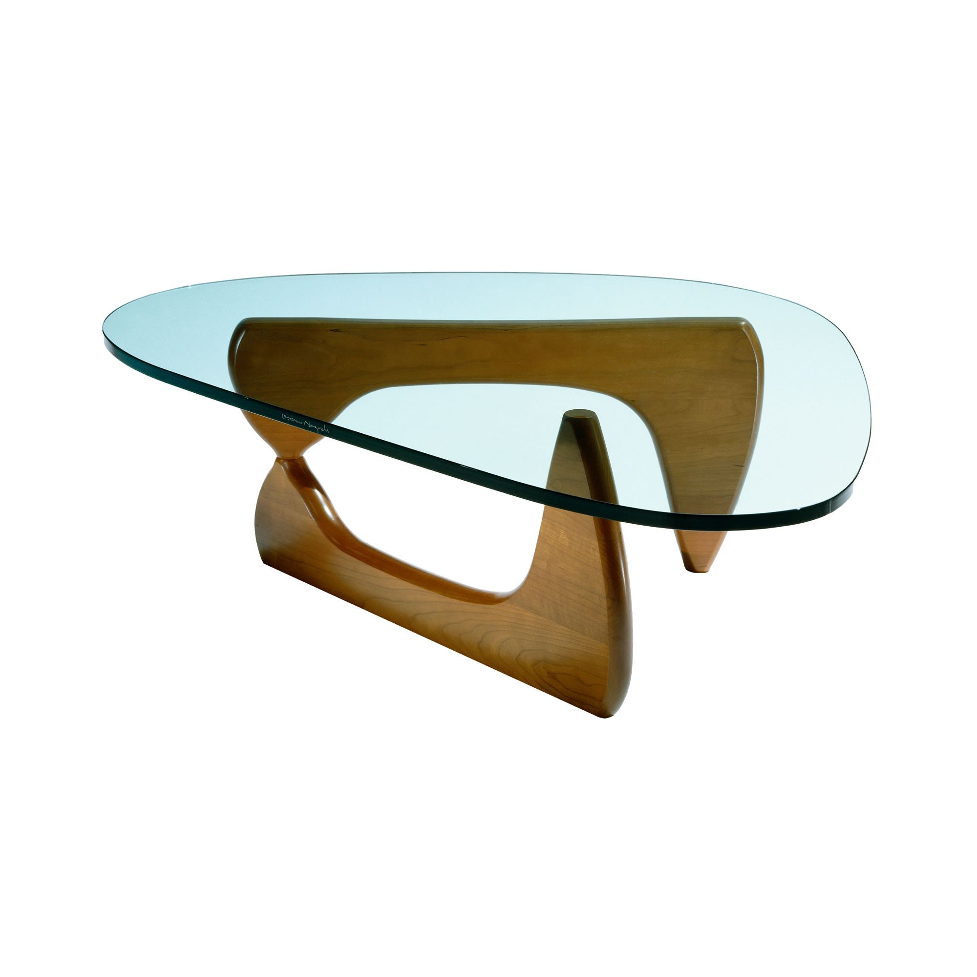CC Furnishing Tempered Glass Coffee Table - Walnut at Tesco Direct