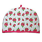 Homescapes Tea Cosy Double Design Roses and Dots Teapot Warmer