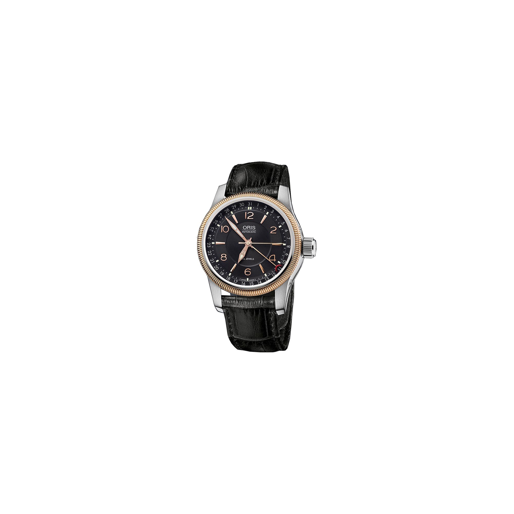 Oris Gents Big Crown Black Leather Strap Watch 75476284364LS at Tesco Direct