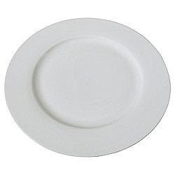 Tesco White Rim Porcelain Dinner Plate