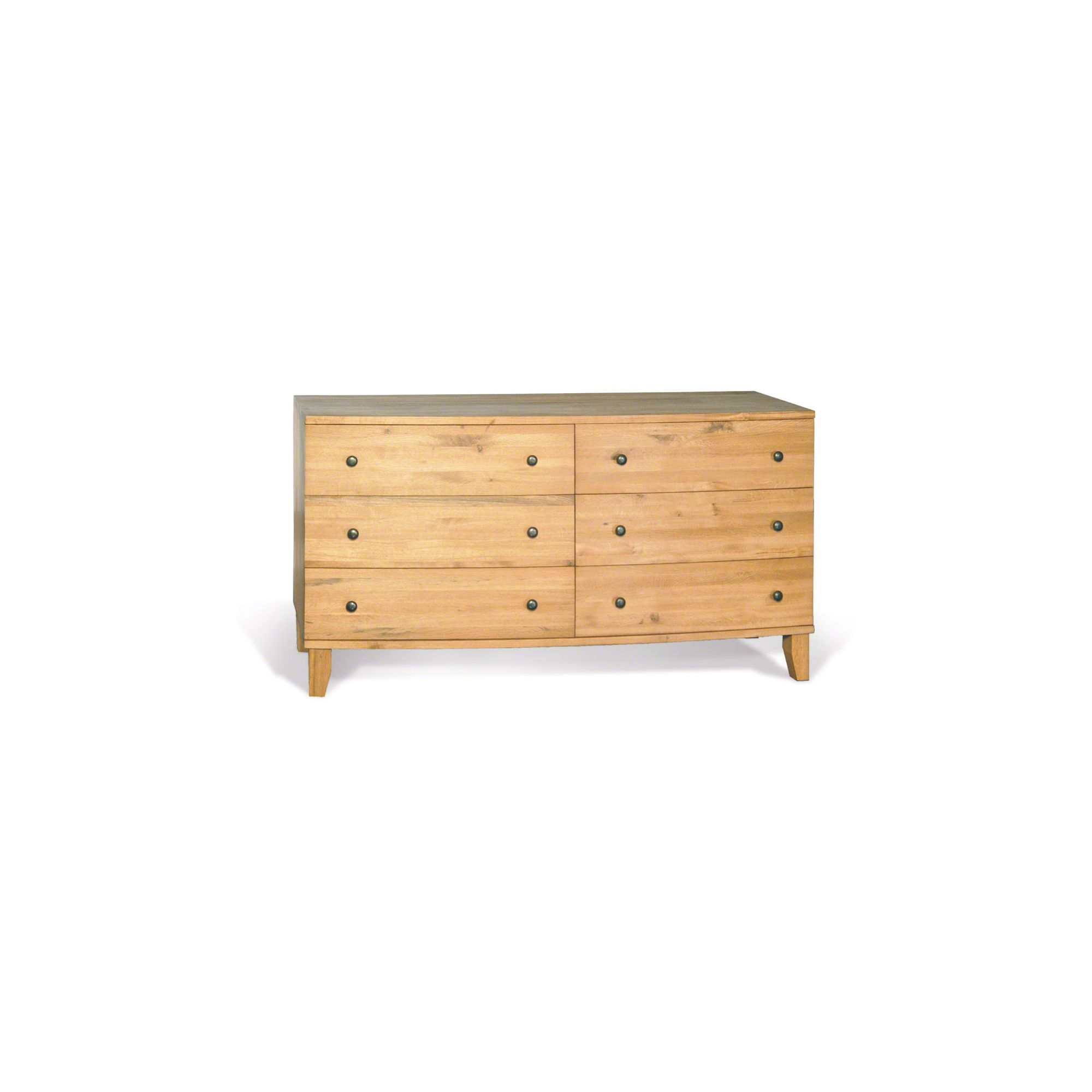 Oceans Apart Cordoba Dark Oak Wide 6 Drawer dresser - Oak at Tesco Direct