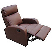Home Zone Dallas Recliner - Brown