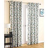 Enhanced Living Serenity Eyelet Teal Curtains 168X137cm