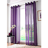 Plain Ring Top Voile - Purple