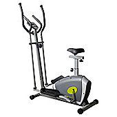 2  in 1 cross trainer and bike grey and green