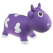Bella Inflatable Cow Space Hopper - Purple & White