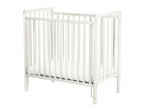 spacesaver cot + mattress - white