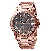 Thomas Earnshaw Ashton Mens Rose Gold Ion-plated Seconds Sub Dial Watch ES-8007-55