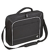 V7 CCV1-9E Vantage Front Loader Laptop Carry Case for 16 inch Notebooks (Black with Grey Accents)