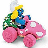 Schleich Super Smurfs Smurfette in Car
