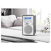 Tesco Wooden Tower DAB & FM Radio Black