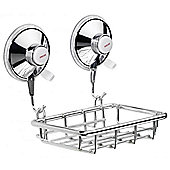 Sanwood Tray in Chrome with Suction Cups