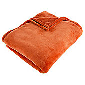 Super Soft Fleece Throw, Burnt Orange