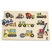 Hape Construction Site Peg Puzzle