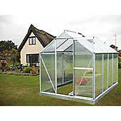 Nison EaZi-Click 8' x 6' Aluminium Greenhouse with Base, Silver