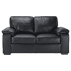 Ashmore Leather Small 2 seater Sofa Black