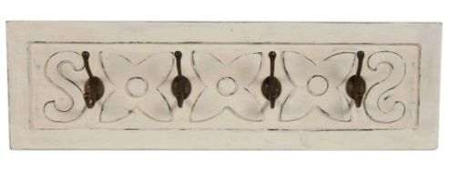 Papa Theo Small Coat Rack in Antique White finish